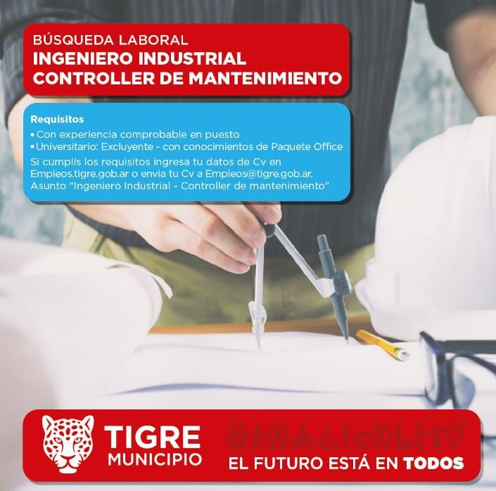 INGENIERO INDUSTRIAL CONTROLLER DE MANTENIMIENTO
