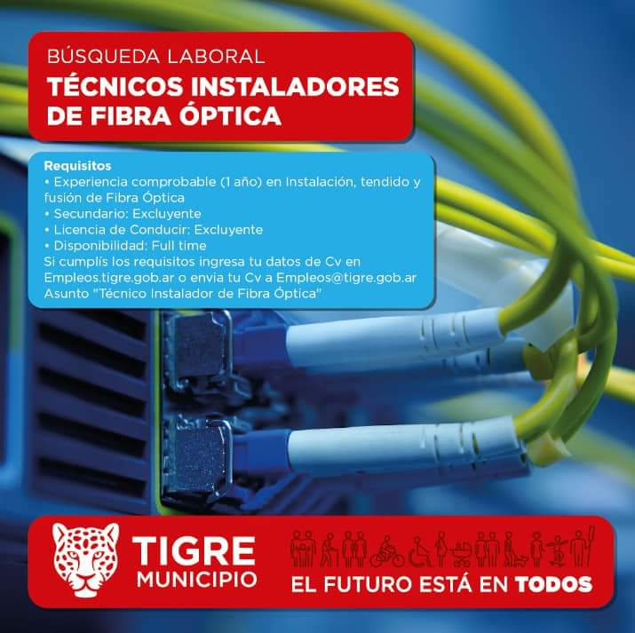 TECNICOS INSTALADORES DE FIBRA OPTICA