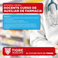 DOCENTE CURSO DE AUXILIAR DE FARMACIA