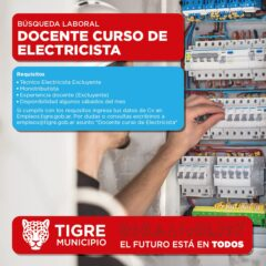 DOCENTE CURSO DE ELECTRICISTA