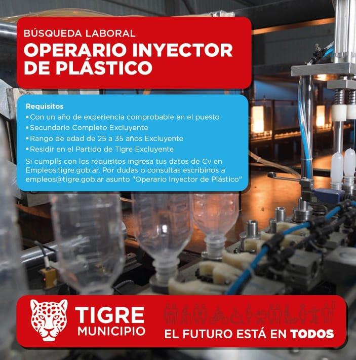 OPERARIO INYECTOR DE PLASTICO